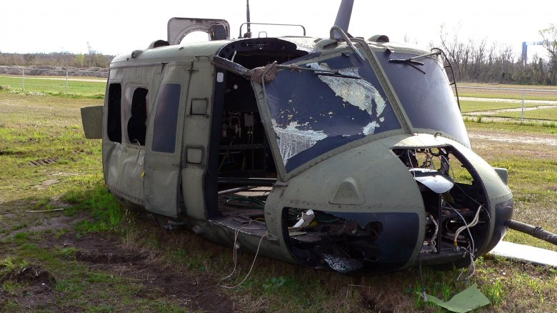 wrecked helicopter