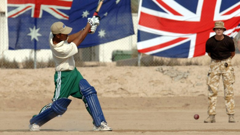 soldiers, England, Australia, ashes in the desert, cricket