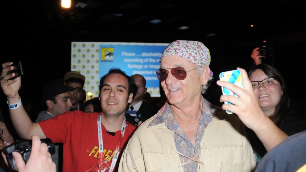 Bill Murray with fans
