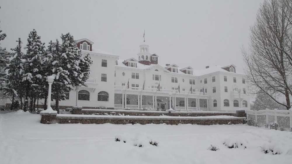 Stanley Hotel in snow