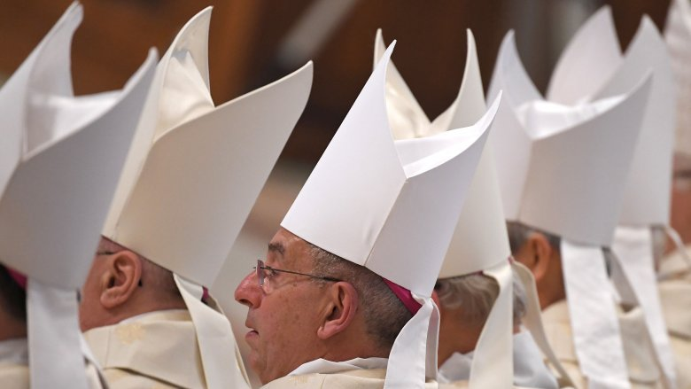 catholic bishops hats