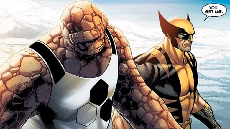 thing wolverine marvel x-men fantastic 4