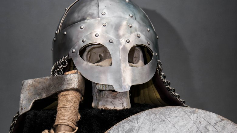 Viking skull and helmet