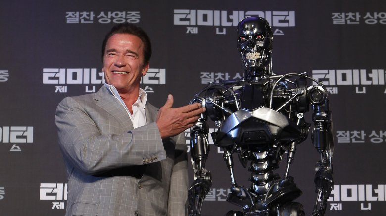 Arnold Schwarzenegger and the Terminator