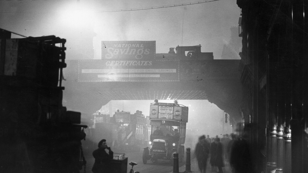 Overpass during the Great Smog