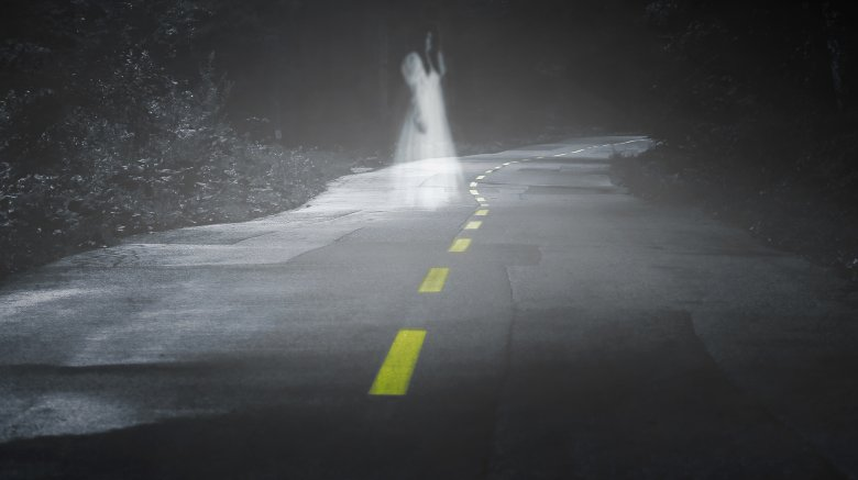 ghost on road night