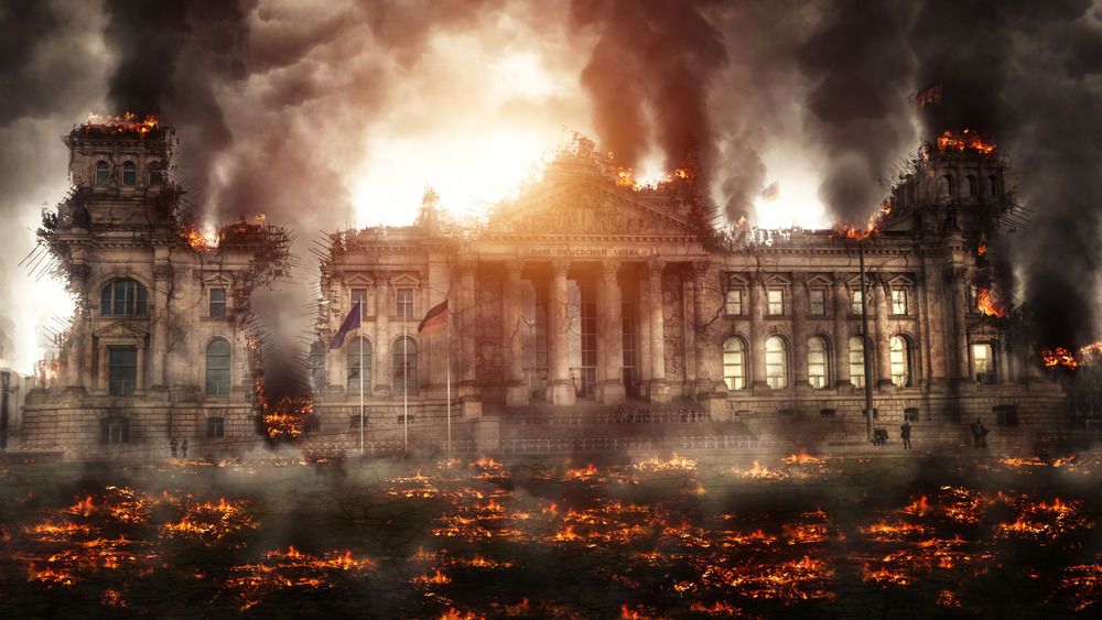 dramatized burning of reichstag