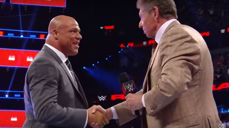 Kurt Angle makes his WWE return