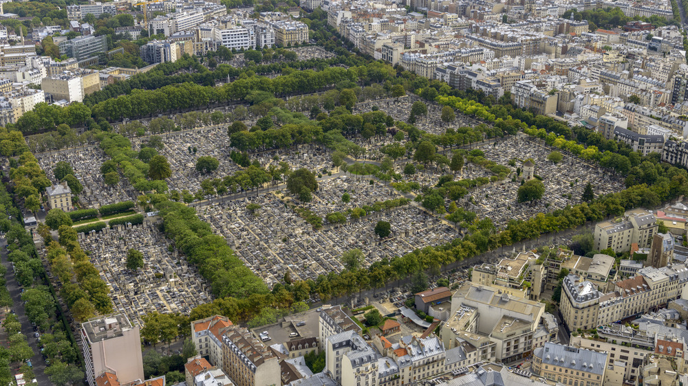 aerial view of Pere Lachaise