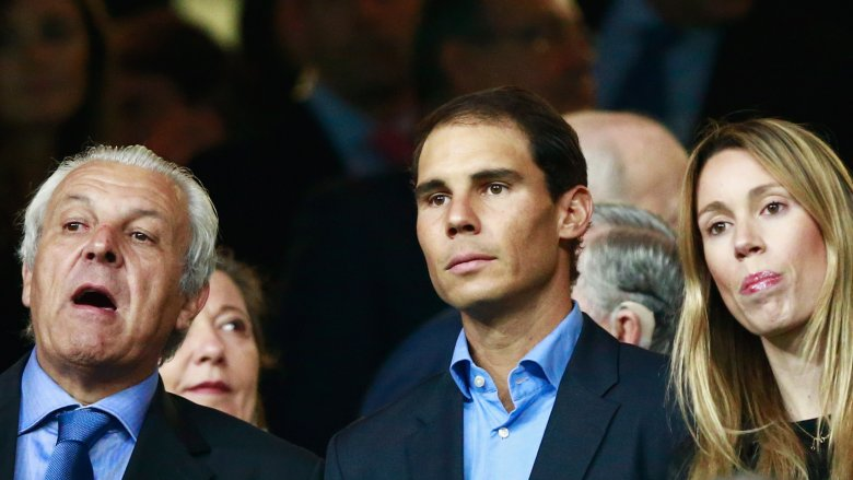 Rafael Nadal with his father and sister