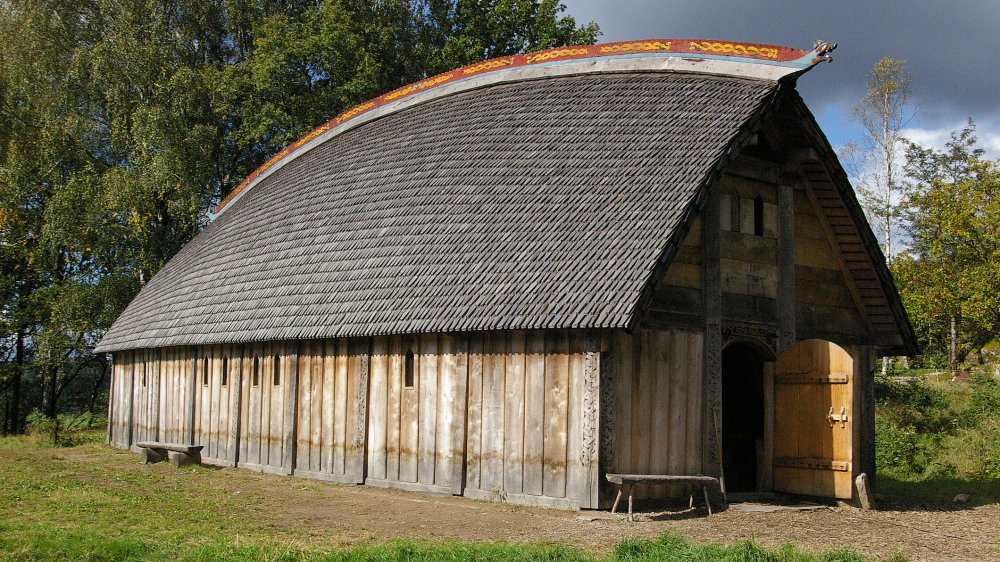Reconstructed Viking house in Ale, Sweden