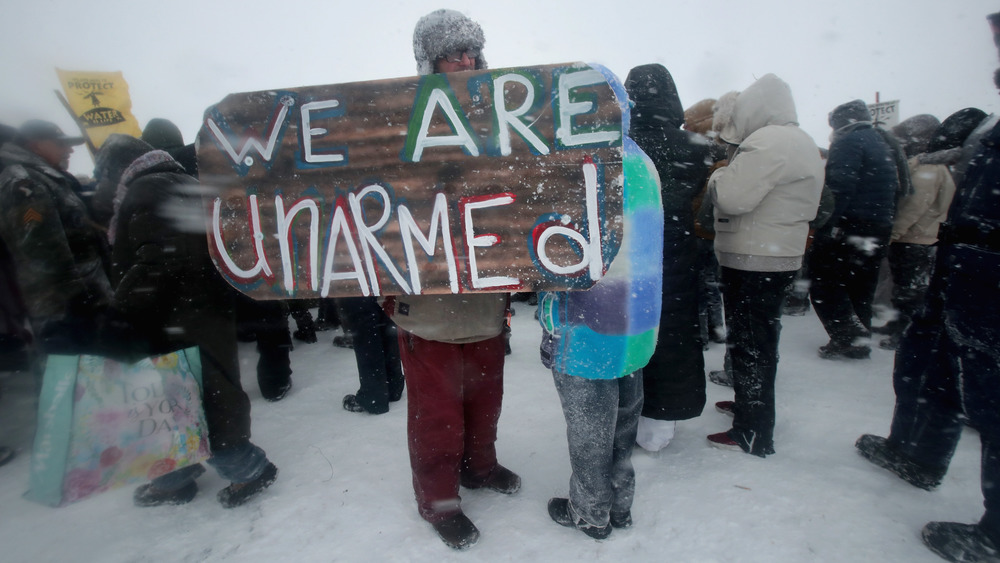 Sign from Standing Rock Protest