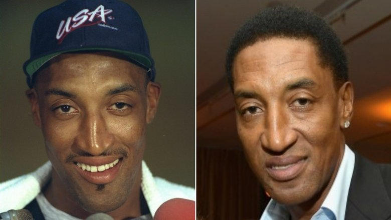 Scottie Pippen then and now