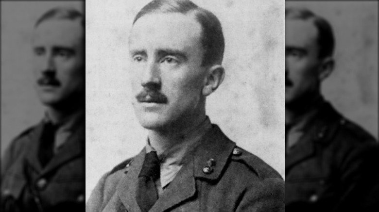 jrr tolkien in uniform